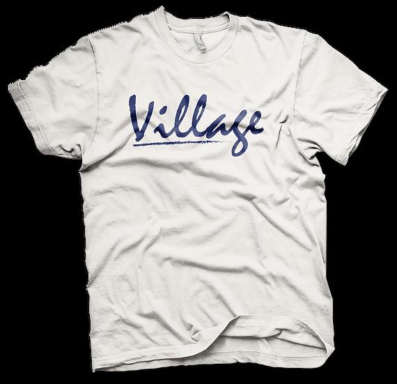 Village Classic White Tee - Navy