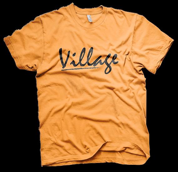 Village Classic Tee - Safety Orange/Black