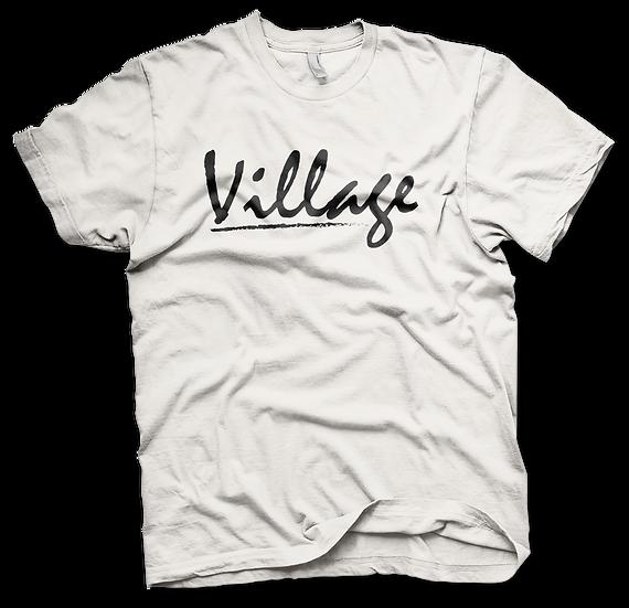 Village Classic White Tee - Black