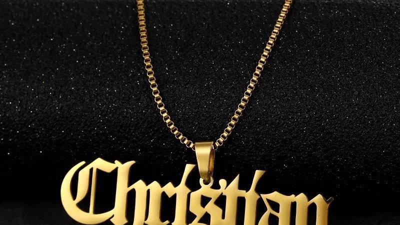 Med. Size Custom Name Necklace