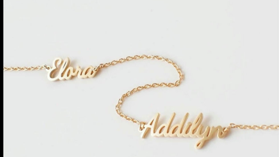 2 Name Custom Bracelet