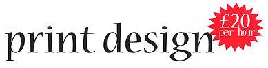 print design £20 per hour