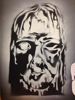 'Trashman' Graffiti Art