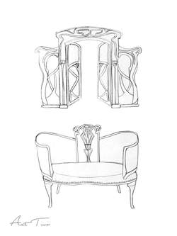 Act II Furniture Sketches