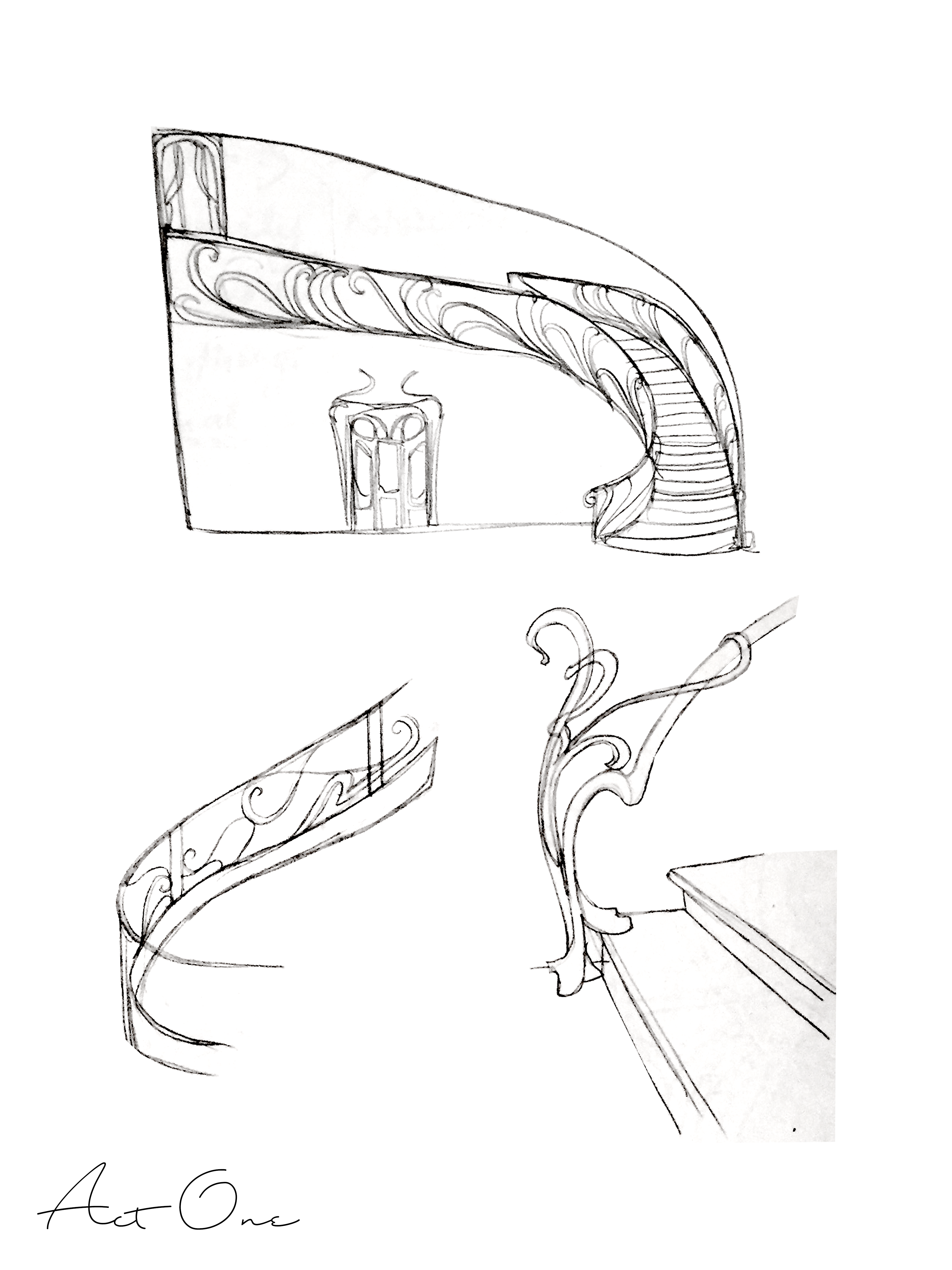 Act I Staircase Sketches