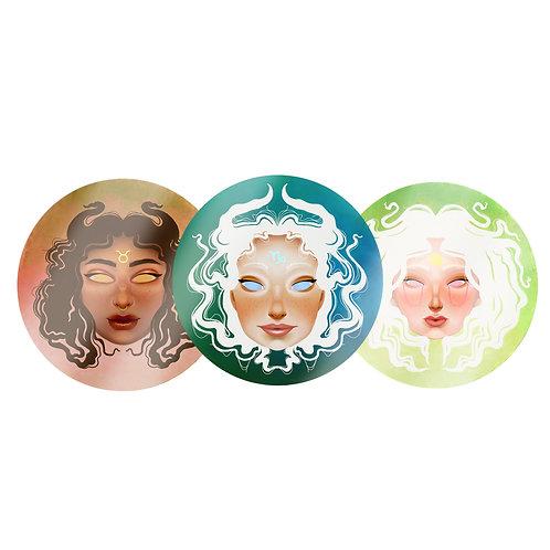 Earth Sign Zodiac Stickers