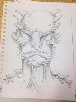 The Lizard Man - Police Sketch