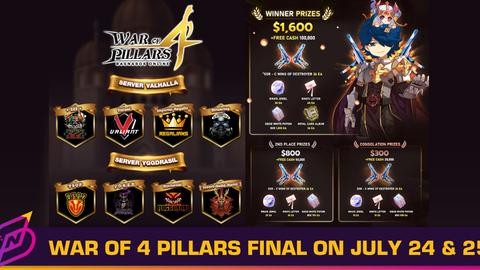 "The Finals of Ragnarok Online's ""War of 4 Pillars"" Will Start on July 24"