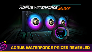 Gigabyte Releases Pricing for AORUS Waterforce Series AIO Liquid Coolers; Starts from RM699
