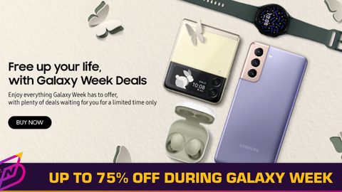 Samsung Offers Discounts Up to 75% During Galaxy Week