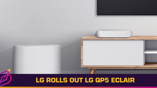 LG Rolls Out Smallest Soundbar to Date - the LG QP5 Eclair