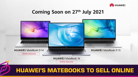 HUAWEI's MateBook D14 and MateBook 14 Will be Available Exclusively Online on 27 July