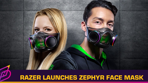 Razer's Futuristic Zephyr Smart Mask Is Now Available