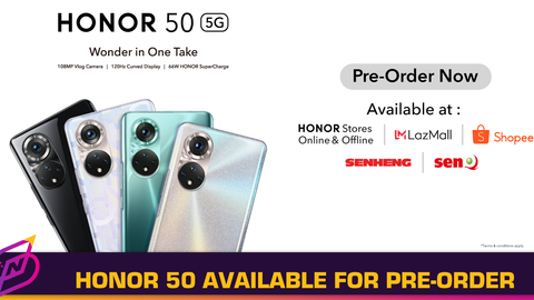 HONOR 50 Arrives in Malaysia; Pre-Order Available Now