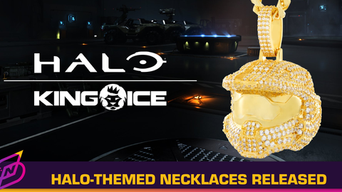 Halo Infinite x King Ice Release Halo-Themed Diamond Necklaces
