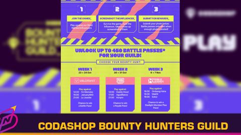 """Codashop Invites Players to """"Hunt Down"""" Influencers in the Bounty Hunters Guild Event"""
