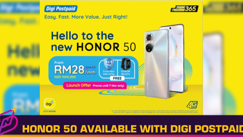 HONOR 50 Now Available with Digi Postpaid Plan Phone Freedom365
