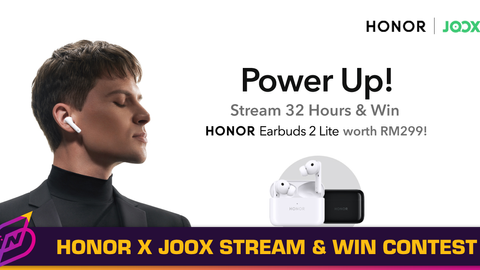 HONOR and JOOX Partner Up for Stream and Win Contest
