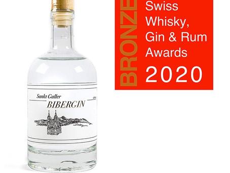 Doppel Bronze an den SWISS GIN AWARDS 2020