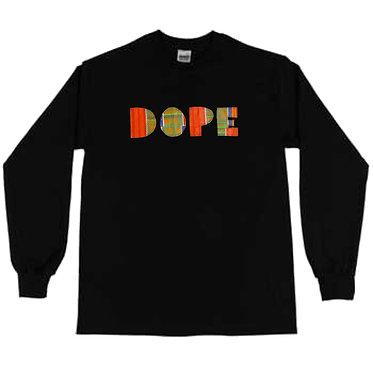 DOPE! LONG T-SHIRT (BLACK) UNI-SEX