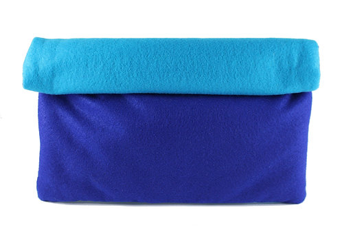 SUMMER BLUES ROLLOVER CLUTCH(blue)