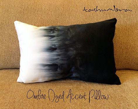OMBRE DYED PILLOW ACCENT PILLOW 12x18