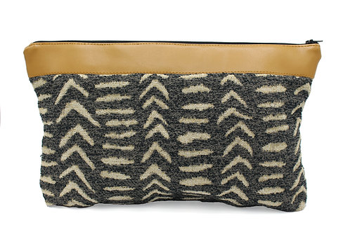 MALI BROWN CLUTCH(black)