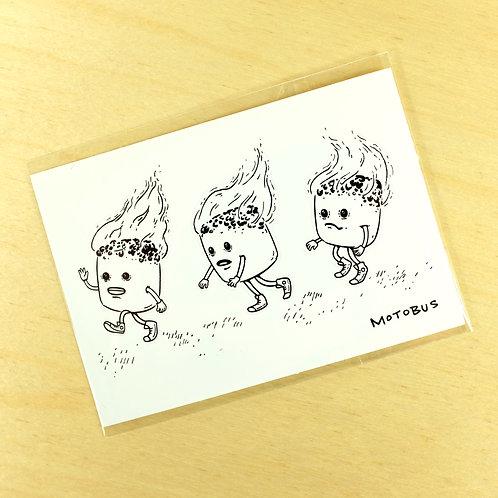 Mini Sticker Sheet - Marshmallow Run - 74mm x 105mm