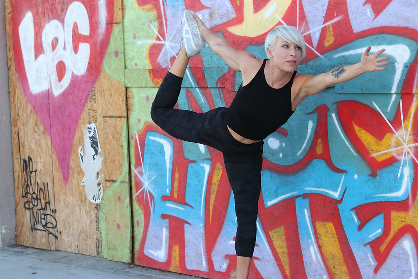 Amanda Fletcher yoga pose