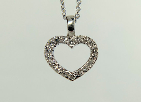 Diamond Pendant, 14k white gold