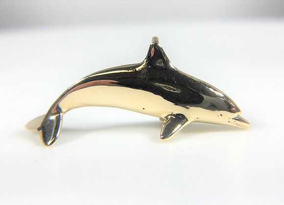 Solid 14k Yellow Gold Dolphin pendant