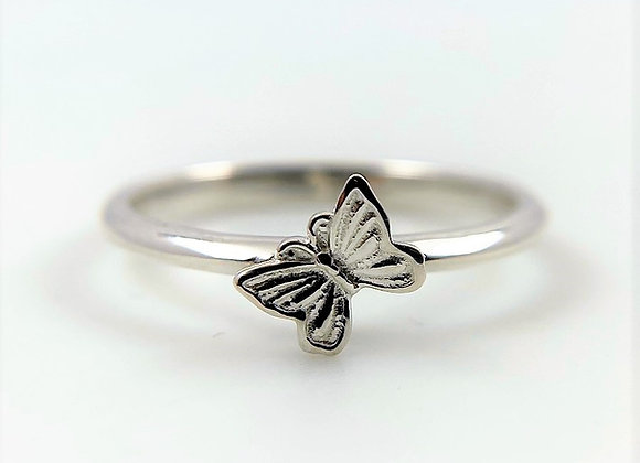 Butterfly Sterling Silver Stackable Ring