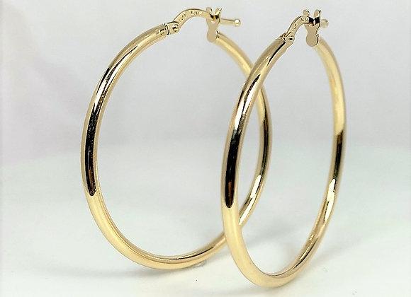 Gold Hoop Earrings 14k (34mm)