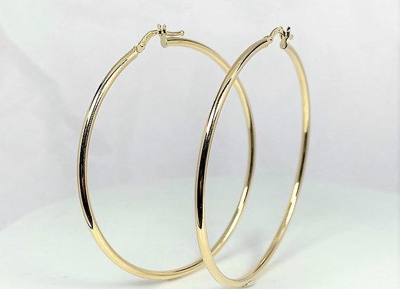 Gold Hoop Earrings 14k (53mm)
