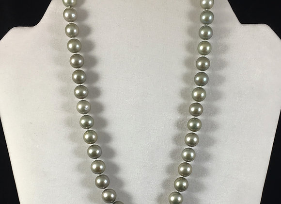 Green Fresh Water Cultured Pearl Necklace