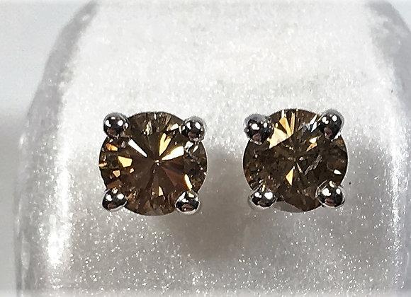 Light Brown Diamond Earrings