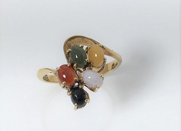 Multi Color Jade Ring