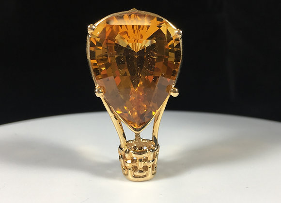 Citrine Hot Air Balloon Brooch