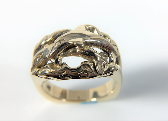 Dolphin Ring, 14kt yellow gold
