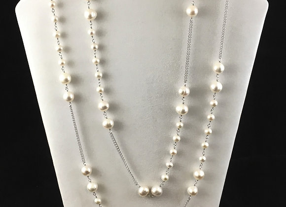 Fresh Water Cultured Pearl with chain Necklace