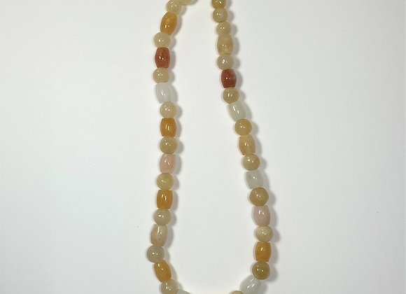 Quartz bead necklace