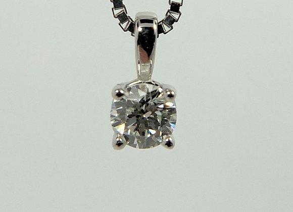 Diamond Pendant, 14k white gol