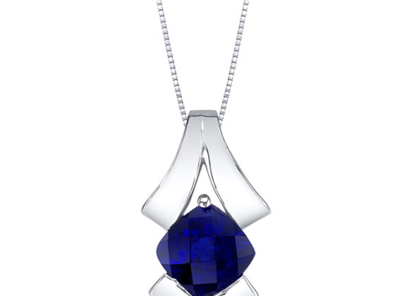 Created Blue Sapphire Necklace