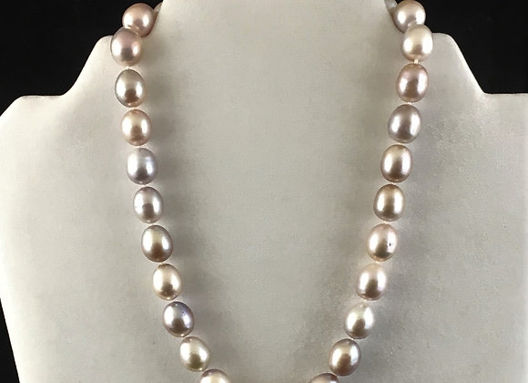Mauve Fresh Water Cultured Pearl Necklace