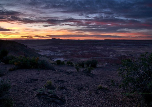 Painted Desert sunset