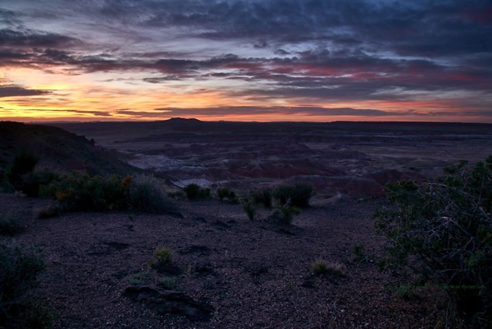 Painted Desert sunset