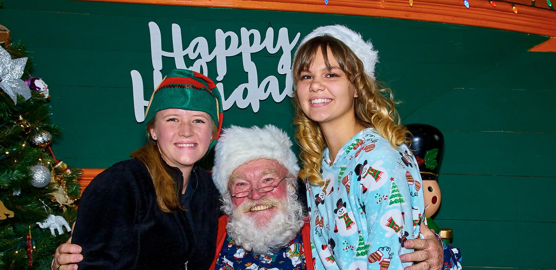Santa at ElectriCritters, Pueblo Zoo