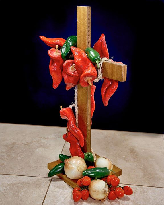 Peppers on a cross