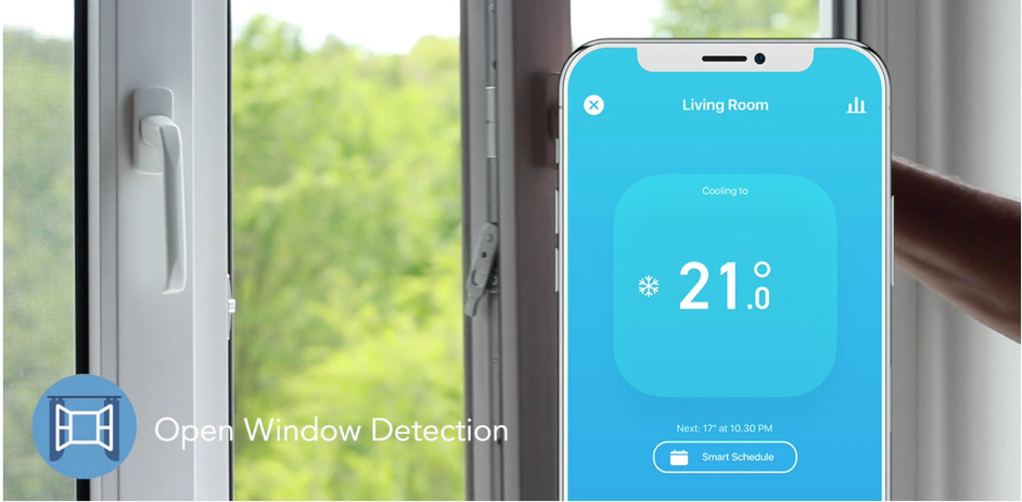 Open Window Detection by automatically applying the most efficient setting