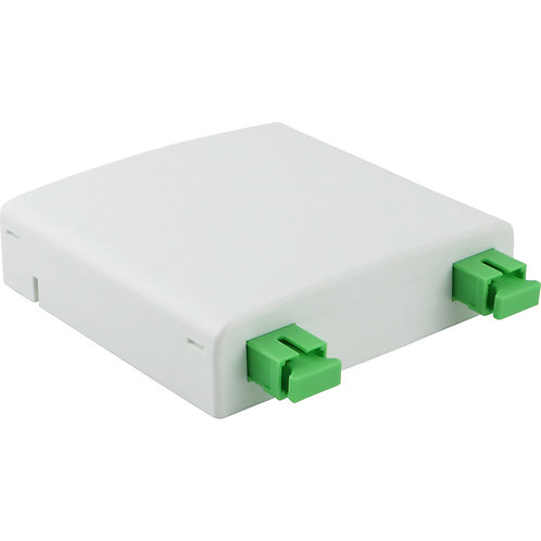 Surface Outlet loaded with 2 Simplex SC/APC Adaptors